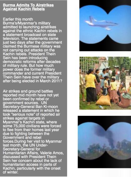 Burma Airstrikes in Kachin State by AK Rockefeller (top) Burma Kachin Refugees by AK Rockefeller (middle) Burma Airstrikes in Kachin State by AK Rockefeller (bottom)