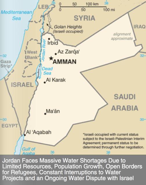 Map of Jordan via Map of the World.net